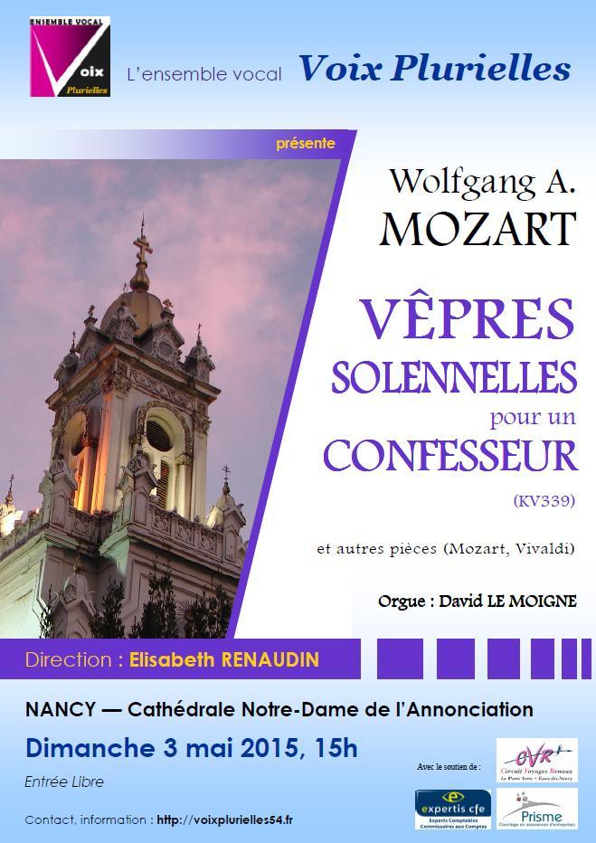 Mozart, Vêpres Solennelles pour un Confesseur