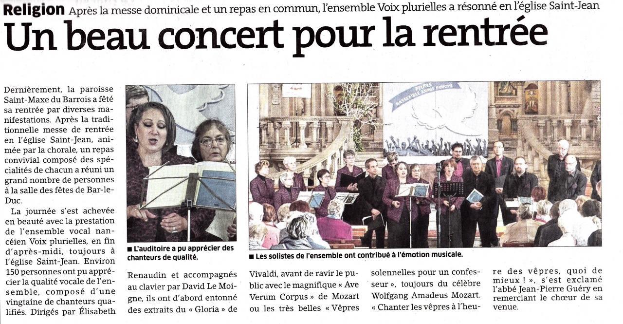 Concert à Bar-le-Duc