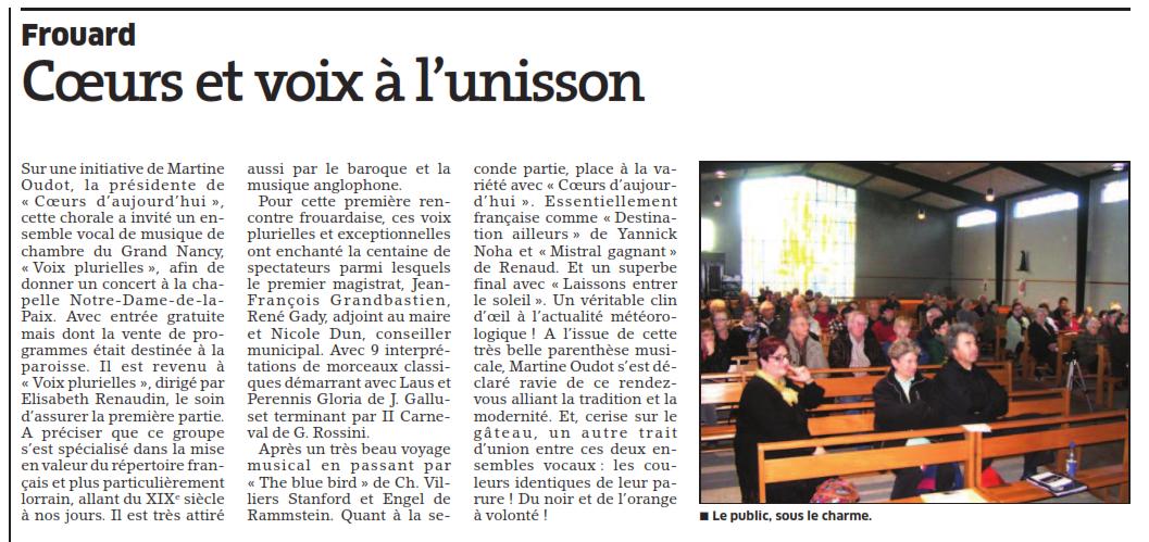 Concert à Frouard