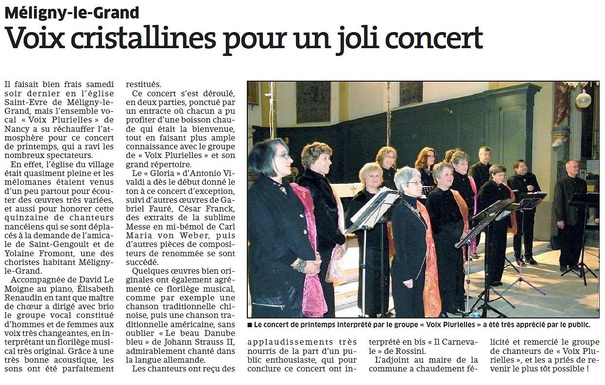 Concert à Méligny-le-Grand (55)