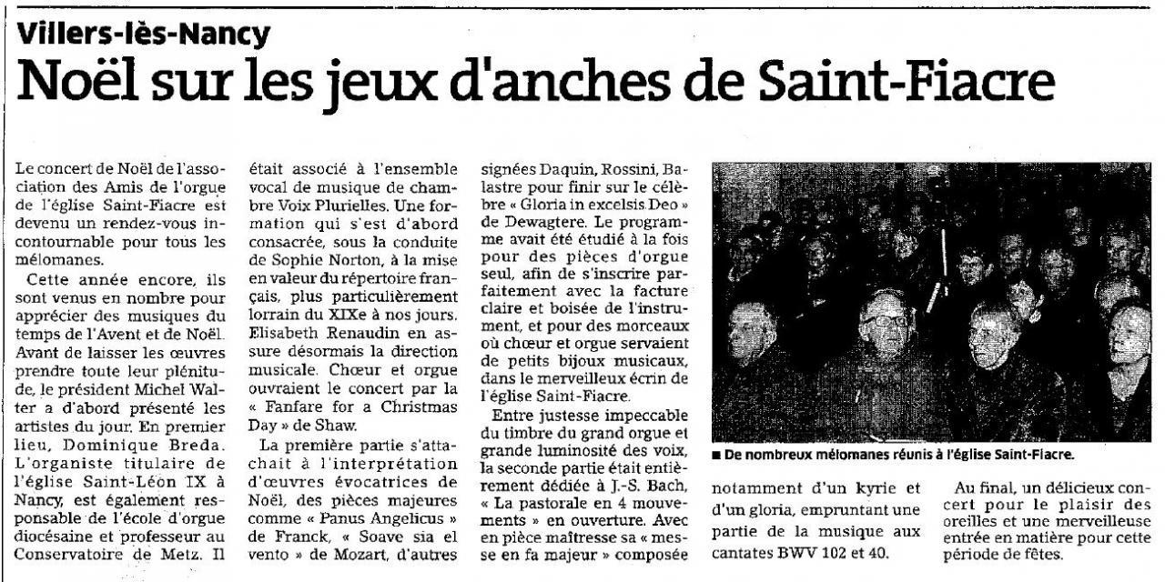 Concert de Noël, Villers-les-Nancy
