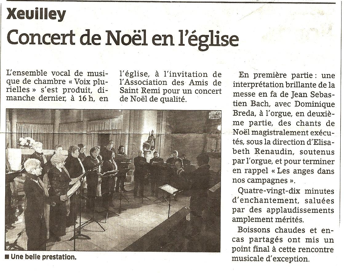 Concert de Noël, Xeuilley